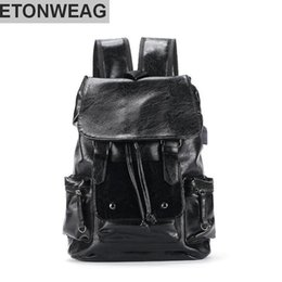 backpack factory Coupons - Factory wholesale brand mens contracted Leather Men shoulder knapsack outdoor leisure large capacity Korean plate leather hand-held Backpack