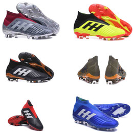 Wholesale gold ace - High Ankle Youth Football Boots ACE Predator 18+x Pogba FG Accelerator DB Kids Soccer Shoes PureControl Purechaos Soccer Cleats for women