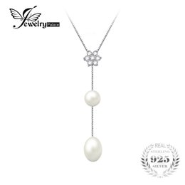 cultured pearls strands UK - JewelryPalace Flower Round 6.5mm Freshwater Cultured Pearl Box Chain Choker Strand Beads Necklace 925 Sterling Silver 18 Inches