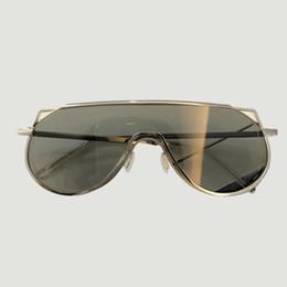 89f4b4dd4bc Man Women Oversize Clear Sunglasses Fashion Google Eyewear Big Sun Glasses  Frame Optical Metal Frame Retro Female Sunglasses