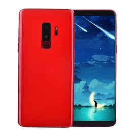 Wholesale red heart gold - Face ID Fingerprint Iris 1GB 8GB Goophone 9 Plus Clone 3G WCDMA Quad Core MTK6580 Android 7.0 6.2 inch Full Screen 13.0MP Camera Smartphone