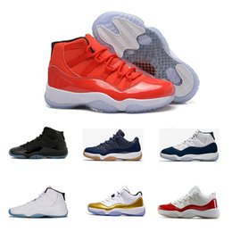 Wholesale Hero Blue - Series 11 hero Basketball Shoes Space Jam 45 Gym Red Midnight Navy Win Like 82 Womens youth 11s XI Sneakers size eur 36-47