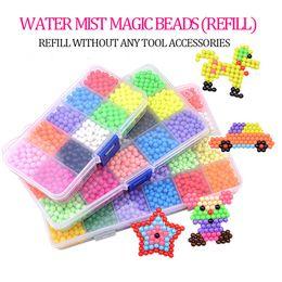 Argentina Paquete suplementario 24 colores rompecabezas 3D Aquabeads Magia cuentas de agua Aqua Beads niños rompecabezas juguetes Set juguetes educativos para niños Suministro