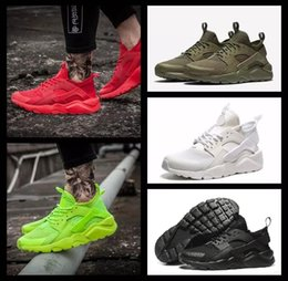 Wholesale Lightweight Running Shoes - 2017 New Design Air Huarache 4 IV Running Shoes For Women Men, Lightweight Huaraches Sneakers Athletic Sport Outdoor Huarache Shoes 36-46