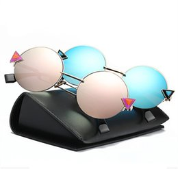 ad95026e37d Free shipping glasses New Fashion glasses Women men Fashion retro roundness  colours Girls Sunglasses summer colors glasses
