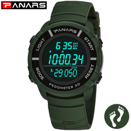 d9642004e0fd PANARS Podómetro Reloj de Los Hombres Relojes Deportivos Al Aire Libre Para  Correr 50 M Impermeable LED Reloj Masculino Reloj Hombre reloj digital  hombre