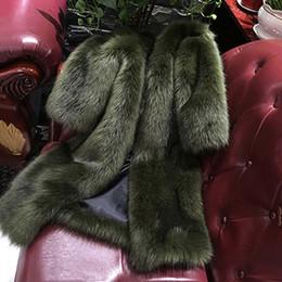 2020 lungo cardigan soffice Faux Fur Coat 2018 Autunno PIÙ ECCELLENTE Fluffy Long Fur Coat Fake Fur Jacket Shaggy Cardigan F0126 3 colori bottoni ricoperti lungo cardigan soffice economici
