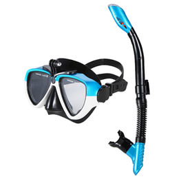 Wholesale snorkel tube - Lixada Professional Silicone Diving Mask Snorkel Anti-Fog Goggles Set Diving Glasses with Dry Snorkel Tube Swimming Equipment