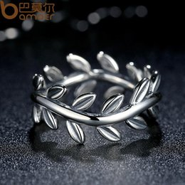 7cbddbf04 New Collection Authentic Laurel Wreath Laurel Leaves Ring 100% Fine 925  Sterling Silver Jewelry PA7156
