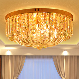 Wholesale Luxury Classic European Living Room - Crystal ceiling chandelier luxury royal European round classic led chandelier lights for hotel villa living room bedroom ceiling chandeliers