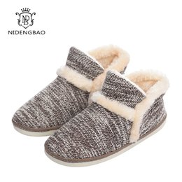 Wholesale chocolate bedroom - Winter Big Size Women Warm Soft Bottom Solid Color Flannel Indoor Floor Plush Home Shoes For Lady Bedroom House Furry Slippers