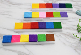 pastiglie per imbarcazioni artigianali Sconti New Office Fingerprint Ink Pad per timbri di gomma Scrapbooking Colorful Inkpad Stamp Sealing Decoration Stencil Card Making Artigianato fai da te
