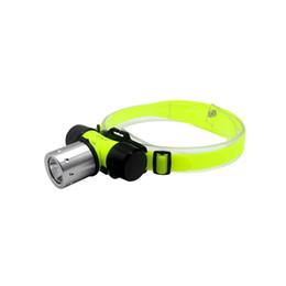 Wholesale underwater headlight - Underwater 2000 Lumen T6 LED Headlight 60m Swimming Diving Headlamp Dive Head Light 3 Modes Diving Lamp Use 18650 or AAA Baery