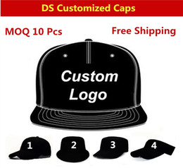 Wholesale Baseball Caps Embroidered Logo - LOGO Custom Embroidered Hats Baseball Snapbacks Printing Embrodiery Caps For Adults Mens Womens Children Kids Size Fitted Fishing Hats Sale