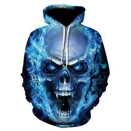 Cráneos de la ropa de las mujeres online-3D Skull 2018 Sudaderas con capucha para hombre / mujer Sudadera con capucha 3D Brand Clothing Cap Hoodie Print Paisley Nebula Jacket
