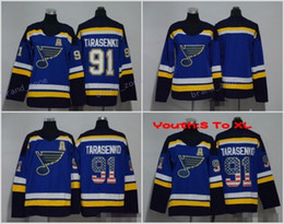 Wholesale Kids Blanks - 2018 AD 91 Vladimir Tarasenko Youth Ice Hockey Jerseys Women Men Man Kids Woman St. Louis Blues Jersey Blank USA Flag Color All Stitched