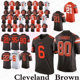 Marrones camiseta 73 online-Cleveland Brown jerseys 6 Baker Mayfield 80 Jarvis Landry 73 Joe Thomas 21 Denzel Ward 31 Nick Chubb 95 Garrett