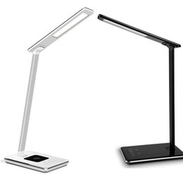 Wholesale Led Desk Lamp Usb Charger - New LED Desk Lamp Table Lamp Folding Eye-friendly 4Light Color Temperature Book Light with Wireless Desktop Charger USB Charging