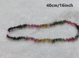 Wholesale Gemstone Coin Beads - 4-8mm 16inch 40cm Natural Colors Tourmaline Crystal Stones Chip DIY Jewelry Gemstone Stone Beads Strand Necklace Bracelet Pendant N62