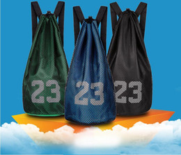 Wholesale String Gym Bags - Wholesale & Retail Cheap Sale Hot Basketball Backpack Training Mesh Bag Soccer Shoes Football Boots Sports Bags Pocket Gym Bag Free Shipping