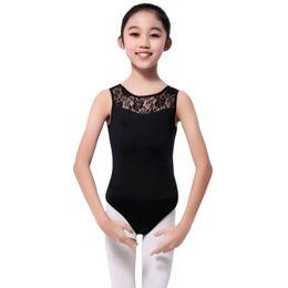 2019 leotard aberto Lycra Bodysuit Lace Meninas Dance Leotard Open Back Ballet Dancewear Trajes Das Senhoras Chic leotard aberto barato