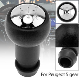 Abs cromo online-5 velocità ABS plastica + Chrome Car Gear manuale pomello del cambio manuale per CITROEN C2 C4 / SAXO XSARA PICASSO BERLINGO / PEUGEOT CIA_30H