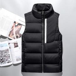 Wholesale Men Vests Cotton Outdoor - Top Quality Winter men north Down vest Camping Windproof Ski Warm Down Coat Outdoor Casual Hooded Sportswea vest