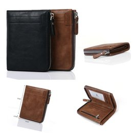 Wholesale change holders - Tyeer@ Men's Fashion Casual Wallet with Zipper Multiple Card Change