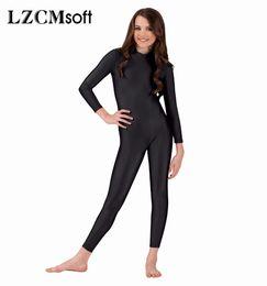 Wholesale Women Spandex Unitards - LZCMsoft Child Long Sleeve Unitards For Girls Ballet Dance Gymnastics Unitard Full Bodysuits Toddler Spandex Stage Dancewear