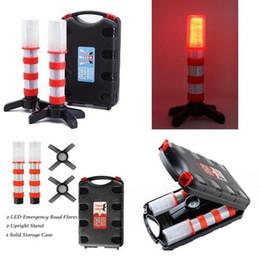 2019 luz do traço led azul flash 2 Pcs Led Vermelho Piscando À Prova D 'Água Faróis de Emergência Magnética Beacon Segurança Strobe Light + Sólida Caso