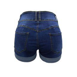 shorty shorts Rabatt Biker Shorts Frauen Neue Denim Zerrissene Shorts Loch Heißer Verkauf Pole Dance Hohe Taille Fitness Frauen Shorty Femme