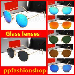 fca7989696 New Model Round Frame Metal Glass Sports Sunglasses Designer Sunglasses  Women Men Fashion Outdoors Sunglasses 6 Colors