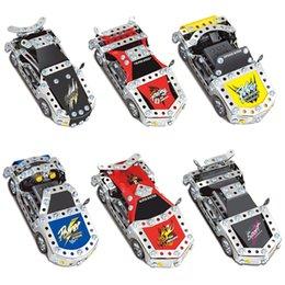 Wholesale Cars Sets - 3D Assembly Metal Model Kits Toy Car 816D-1 816D-2 816D-3 816D-4 816D-5 816D-6 Accessories Construction Play Set