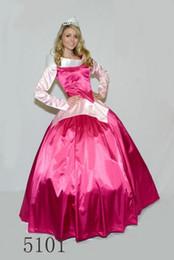 dorminhoco livre de beleza Desconto FRETE GRÁTIS Senhoras Rosa Princesa Aroura Bela Adormecida Fancy Dress Hoop Traje Adulto