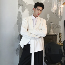 2019 terno de ouro borgonha Queda designer novo estilo moda masculina do desgaste caseira extremamente simples estilo puro cor assimétrica pequena paletó. M-6XL!