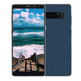 Wholesale cheap notes - 6.3 inch Full Screen Goophone Note 8 3G WCDMA Quad Core MTK6580 1GB 4GB Android 7.0 5.0MP Camera GPS Metal Frame Cheap Big Screen Smartphone