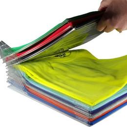 Переработка одежды онлайн-Ezstax одежда организатор системы переработанного пластика 10 слоев Майка держатель для хранения против морщин аккуратные стойки ясно 10 5cc BB