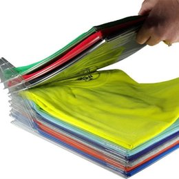t racks Rebajas Ezstax Clothes Organizer System Reciclado de Plástico 10 Capas Camiseta de Almacenamiento Holder Antiarrugas Neat Rack Clear 10 5cc BB