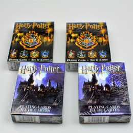 Wholesale harry potter crests - Movie Cards Harry Potter Playing Game Cards Hogwarts House Collection Badges Symbols Castle Crests 2 Patterns Fun Kid Toy Gift