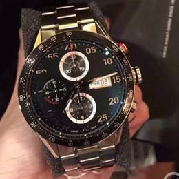 Canada montres de luxe mouvement de balayage automatique montres de luxe taille 43mm visage noir petit cadran travaillant avec des boutons Offre