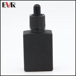 Wholesale Black Glass Dropper Bottles - wholesale e cig liquid 15ml 30ml square matte black glass dropper bottle with childproof and tamper evident cap