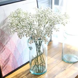 Wholesale Gypsophila Plant - 5 Colors 90 Heads 65cm PU Gypsophila Baby's Breath Artificial Plants Fake Flowers Party Decoration Wedding Centerpieces Wedding Decorations