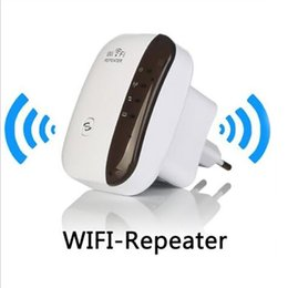 Wholesale Router Signal Boosters - 300 mbps 2 in 1 wifi AP repeater wireless-n 802.11 AP router extender Signal Booster Range AU US UK EU plug for choose