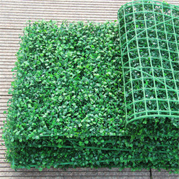 Commercio all'ingrosso 50pcs erba artificiale di plastica stuoia di bosso topiaria albero Milano erba per giardino, casa, negozio, decorazione di nozze piante artificiali da