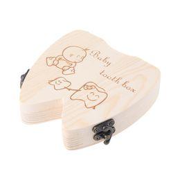 Деревянные ящики для организаторов онлайн-Горячие Продажи Дети Зуб Box Организатор Детские Сохранить Молочные Зубы Древесины Ящик Для Хранения Для Мальчиков Девочек