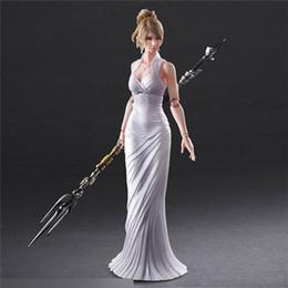 Wholesale Play Kai Arts Figure - Suzannetoyland Play Arts Kai made in china Final Fantasy XV 15 Lunafreya Nox Fleuret PVC Action Figure Collectible Model Toy 25cm