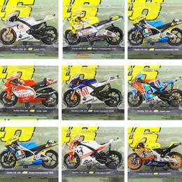 Motocicletas motogp online-Leo 1:18 Rossi VR46 Motogp Aleación de Juguete de Motocicleta Aprilia YZF-R1 Campeona del Mundo Modelo de Colección Juguetes Para Niños