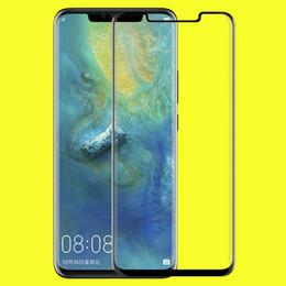 3D curvo cubierta completa de cristal templado Protector de pantalla para Huawei Mate 20 Pro P30 Pro Oneplus 7 Pro película protectora del teléfono celular con caja al por menor desde fabricantes