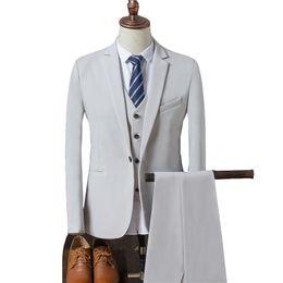 2019 свадебные платья жениха Elegant Men Suit Groom Wear 2018 New Groomsmen Blazer Slim Prom Tuxedo Wedding Suits For Men Bridegroom 3 Pieces дешево свадебные платья жениха