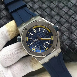 Medidor de goma online-Reloj de lujo para hombre Logo reloj automático 2813 Movimiento 15710ST Correa de caucho Acero inoxidable 316L Reloj de buceo de inmersión 50 metros